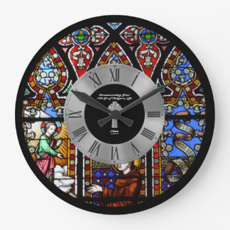 10th Ordination Anniversary Stained Glass Custom Large Clock