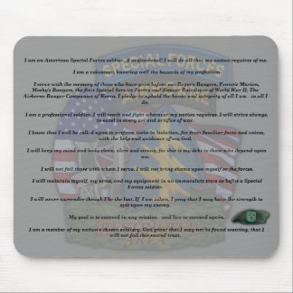 10th special forces creed fort carson veterans  Mo Mouse Pad