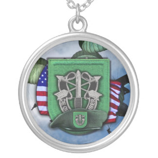 10th Special Forces flash veterans vets Necklace