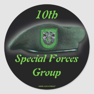10th Special forces Green Berets flash nam Sticker