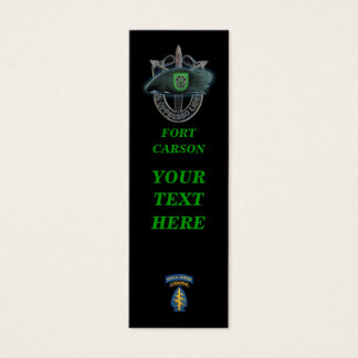 10th special forces green berets group bookmarkers mini business card