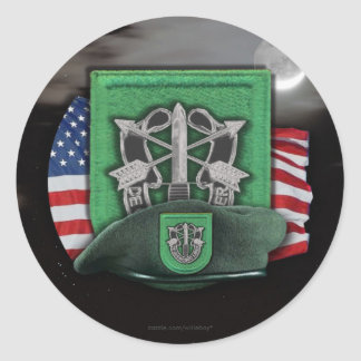 10th Special forces green berets veterans vets Classic Round Sticker