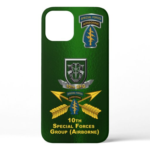 10th Special Forces Group Airborne Customized iPhone 12 Case