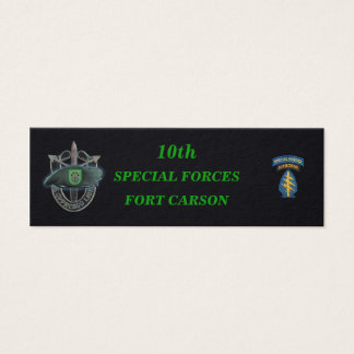10th special forces group green berets bookmarkers mini business card