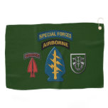 10th Special Forces Group Patch & Insignia Golf Towel