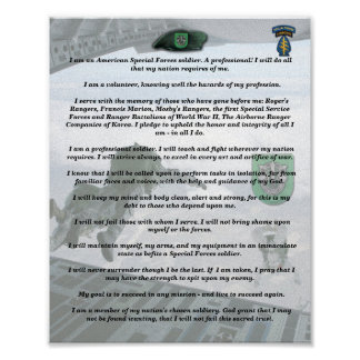 10th special forces group vets creed print