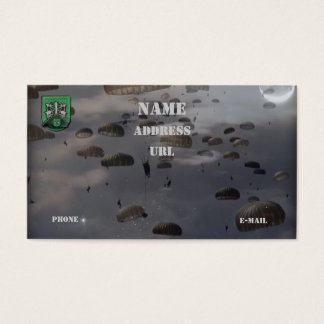 10th special forces group vets flash business Card