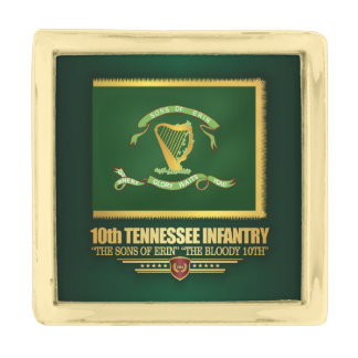 10th Tennessee Infantry Gold Finish Lapel Pin