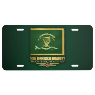 10th Tennessee Infantry License Plate