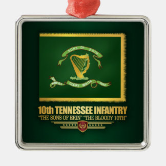 10th Tennessee Infantry Metal Ornament