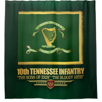 10th Tennessee Infantry Shower Curtain