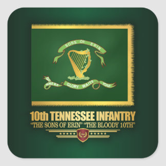 10th Tennessee Infantry Square Sticker