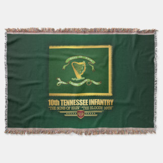 10th Tennessee Infantry Throw Blanket