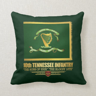 10th Tennessee Infantry Throw Pillow