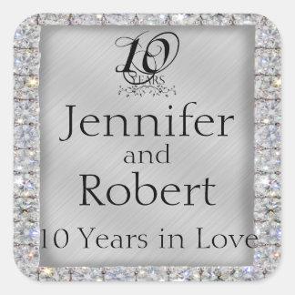 10th Tin and Diamond Anniversary Envelope Seal
