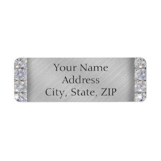 10th Tin and Diamond Anniversary Return Address Custom Return Address Labels