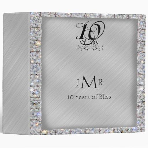 10th Tin and Diamond Wedding Anniversary Binder