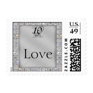 10th Tin and Diamond Wedding Anniversary Stamp