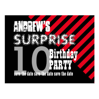 10th TWEEN Surprise Birthday Save the Date A01 Postcard