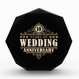 10th Wedding Anniversary Award