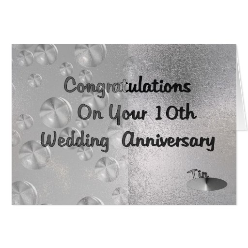 10th Wedding Anniversary Cards