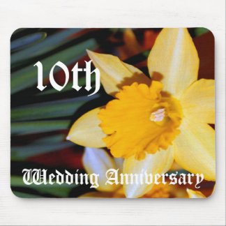 10th wedding anniversary - Daffodil Mouse Pad