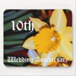 10th wedding anniversary - Daffodil Mouse Pads