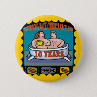 10th Wedding Anniversary Gifts Button
