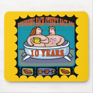 10th Wedding Anniversary Gifts Mouse Pad
