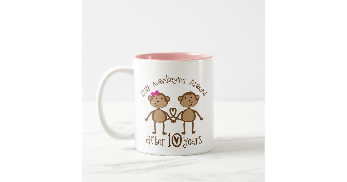 Wedding Gift Coffee Mugs : 10th Wedding Anniversary Gifts Two-Tone Coffee Mug Zazzle
