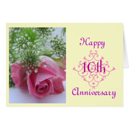 10th Wedding Anniversary Gift For Sister : 10th Wedding Anniversary Greeting Card Zazzle .