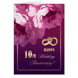 10th Wedding Anniversary Greeting Cards | Zazzle