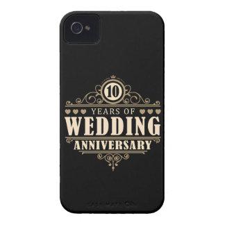 10th Wedding Anniversary iPhone 4 Case-Mate Case