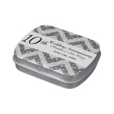10th Wedding Anniversary Jelly Belly Candy Tin at Zazzle