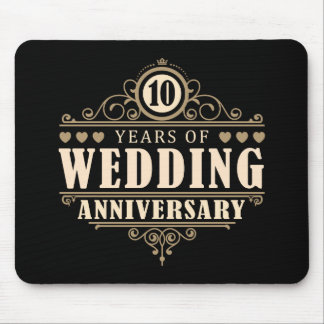 10th Wedding Anniversary Mouse Pad