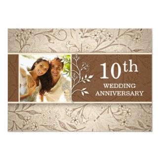 "10th wedding anniversary photo invitations 5"" x 7"" invitation card"