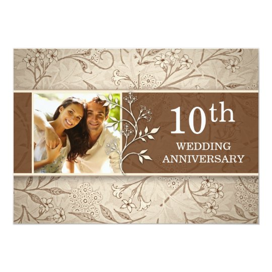 10 Year Wedding Anniversary Invitations: 10th Wedding Anniversary Photo Invitations