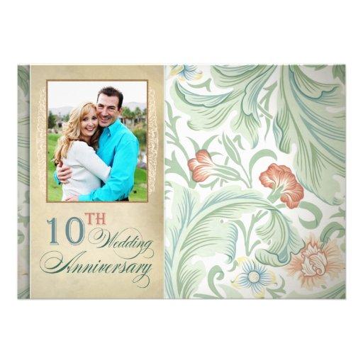 "10th Wedding Anniversary Photo Invitations 5"" X 7"