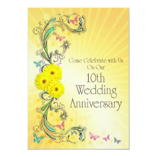 10th Wedding Anniversay Party Invitation