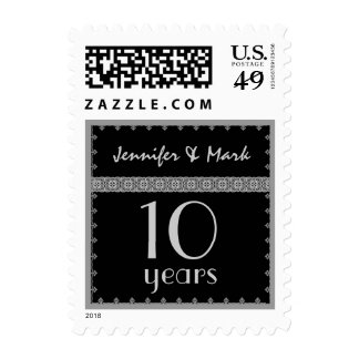 10th Year Anniversary - Black and Silver Stamp