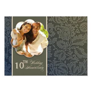 10th years anniversary photo invitations