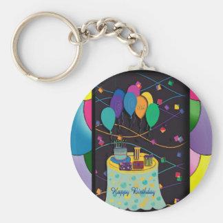 10thsurprisepartyyinvitationballoons copy key chain