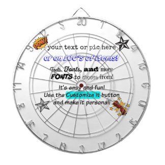10tshirts.com Customizable DART BOARD! Dartboard
