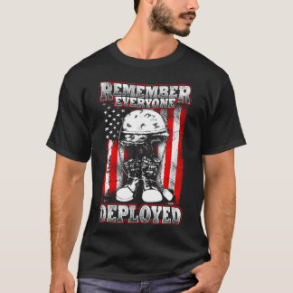 10tshirts.com RF2 Remember Everyone Deployed T-Shirt