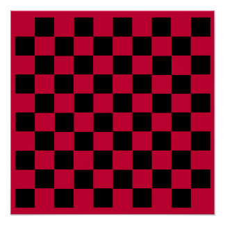 "10x10 Checkers TAG Board (1-1/4"" fridge magnets) Poster"