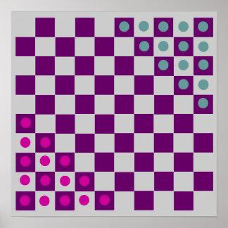 """10x10 Halma Fridge ~TAG~ Board (1-1/4"""" magnets) Print"""