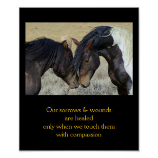 10x12 Inpirational Quote with Horses Poster