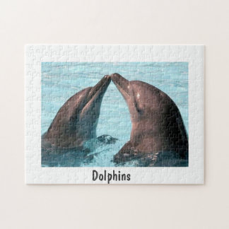 10x14 Photo Puzzle, Lovely Dolphins Jigsaw Puzzle
