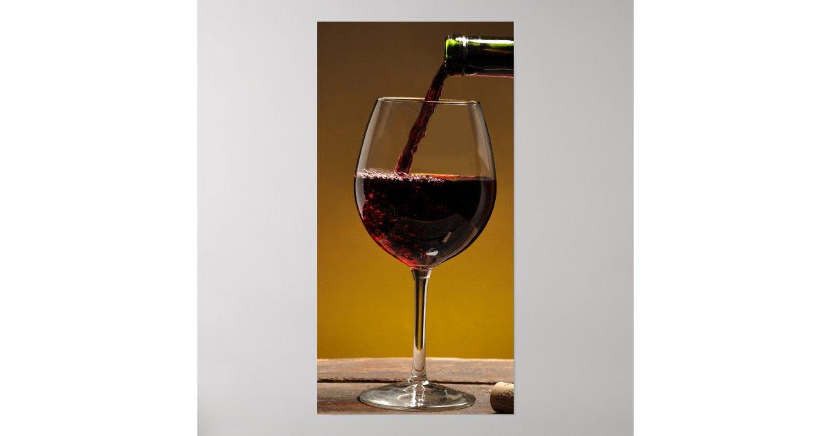 Wall Decor Wine Glasses : Wine glass and bottle wall art zazzle