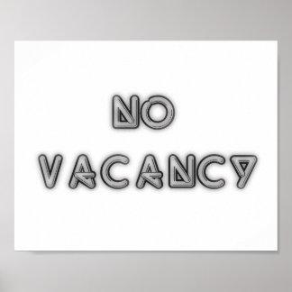 10x8 No Vacancy Black and White Wall Art